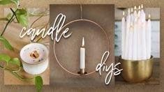 Today we are bringing you some candle themed DIYs! This is super exciting because we don't really do candle DIYs, and we know everyone loves a good candle. Old Candles, Best Candles, The Sorry Girls, Diy Lampe, Make A Lamp, Candle Rings, Girl Tips, Candle Centerpieces, Candle Sconces