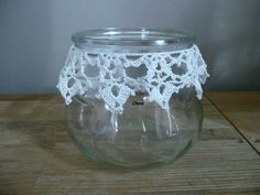 pot décor crochet