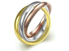316L Stainless Steel Tricolor Ring Ring size is 7. Jewelry Rings