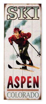 Female Ski Lodge Sign