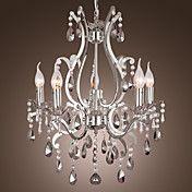 kristallkrona med 5 lampor i metall – SEK Kr. 1,709