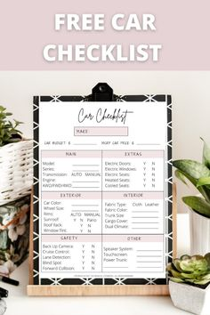 This free car buying checklist printable was so helpful when I purchased my new car!! Free Cars, Hold On, Naruto Sad