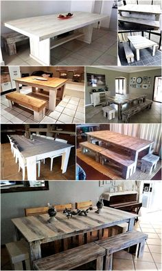 Those who prefer to make furniture and other decorative items with their own hands are praised by others and it shows how much they enjoy their life in making their home give a unique look. We have collected multiple wooden pallet dining set ideas for you, copy any of them and show your skill.