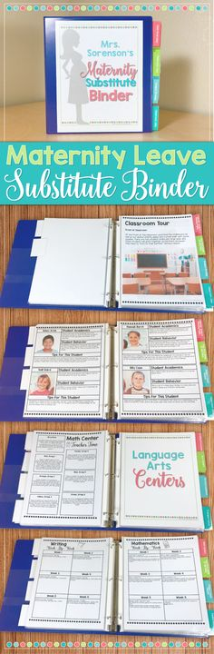 Preparing for a maternity leave? This maternity leave substitute binder and planner is perfect for you! Include all the necessary info for your sub about your class AND what they need to learn while you are away. You won't forget a thing with this binder- plus it's adorable! <3