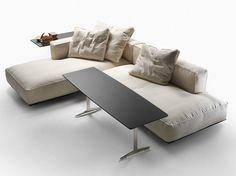 Corner sectional upholstered fabric sofa Grandemare Collection by FLEXFORM   design Antonio Citterio