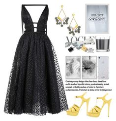 """""""You look Gorgeous"""" by felicitysparks ❤ liked on Polyvore featuring Carolina Herrera, BaubleBar, Yves Saint Laurent, PTM Images, Matchstick and Kate Spade"""