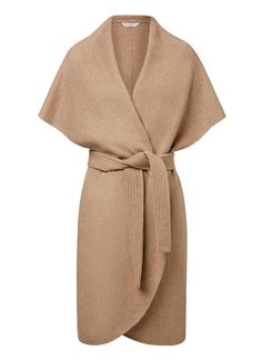 Womens Jackets & Coats | Sleeveless Wrap Coat |