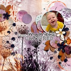 Happy Moment Captured | The Lilypad by EllenT Happy Moments, Butterfly Wings, Photo Book, Scrapbook Paper, Digital Scrapbooking, My Design, Layout, In This Moment, Create