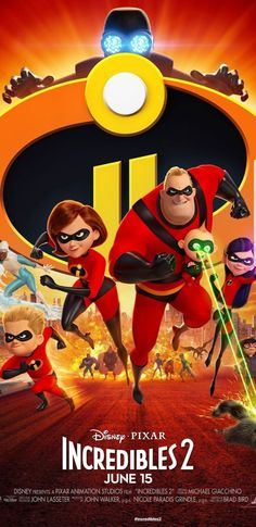 Disney Pixar, Disney Frozen, Walt Disney, Pixar Movies, Disney Movies, Animation Movies, Tv Series Online, Movies Online, Incredibles 2 Poster