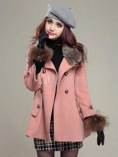 [59,31€] Col haut manches longues beau manteau pour femme