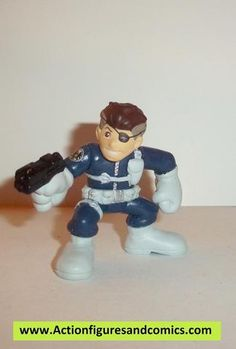 Marvel Super Hero Squad NICK FURY agent of shield complete pvc action figures