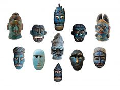 INDIAN INDIA AND NEPALESE NEPAL MASKS A TOUCH OF BLUE Indian India, Himalayan, Tribal Art, Nepal, Maya, Folk, Touch, Blue, Himalayan Cat