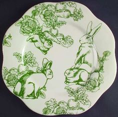I wish this pattern was still readily available. I saw it  displayed at The Apple Farm and loved it...  BUNNY TOILE - Replacements Ltd.