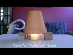 """▶ Candle Powered Space Heater - DIY Air Heater 190F - """"Table Top"""" Size - EASY Instructions! - YouTube"""