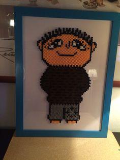 Boy hama beads by Hama Beads, Instagram Accounts, Helmet, Barn, Crochet Hats, Peanuts, Frame, Advent, Crafts
