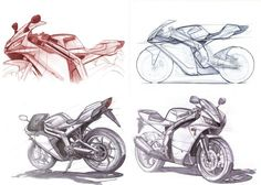Motorcycle sketching