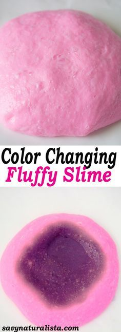 Change your slime from pink to black with this easy Fluffy Color Changing Slime!Only requires to ingredients and a simple video!!