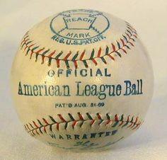 BALL: 1909 Reach Official American League Baseball.