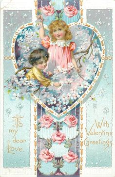 Divided Back Postcard To my Dear Love With Valentine Greetings Children Valentine Images, Vintage Valentine Cards, Vintage Cards, Kinder Valentines, Valentines Greetings, Valentine Crafts, Holiday Postcards, Vintage Postcards, Vintage Pictures