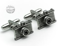 Classic Camera Cufflinks by Cufflinks on Etsy, $24.99