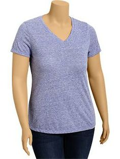 Womens Plus Vintage V-Neck Tees - reviews suggest that need to order a size bigger than I usually wear?