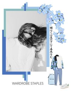 """""""blues"""" by izoche ❤ liked on Polyvore featuring Valentino, Carven, H&M and adidas Originals"""