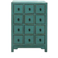 Chinese Rustic Turquoise Cabinet Side Table ❤ liked on Polyvore featuring home, furniture, tables, accent tables, handmade tables, handcrafted furniture, elm furniture, hand made furniture and storage side table