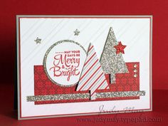 Handmade Christmas Card door JustDelightfulCards op Etsy https://www.etsy.com/nl/listing/244894232/handmade-christmas-card