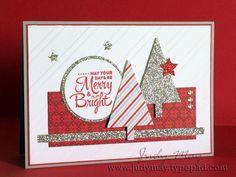 Handmade Christmas Card door JustDelightfulCards op Etsy https://www.etsy.com/nl/listing/244894232/handmade-christmas-card