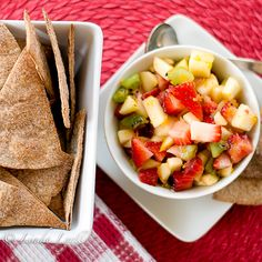 cinnamon chips and fruit appetizer