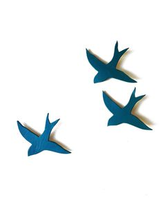 Porcelain wall art swallows We three together . Really like to try this for my wall and my family