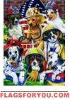 Firehouse Dogs Garden Flag