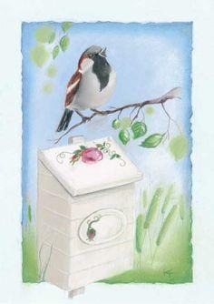 ˇˇ Creation Photo, Funny Drawings, Animation, Bird Art, Illustrations, Bird Feeders, Pet Birds, Finland, Animal Pictures
