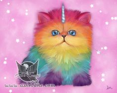 Mewnicorn by Ash Evans, prints available at http://www.ashevans.com