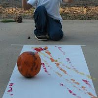 pumpkin rolling- for outside or maybe with older or fewer kids?