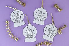 Decorate your presents and the tree with snow globe ornament gift tags!