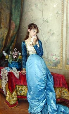 Auguste Toulmouche (1829-1890)  The Love Letter
