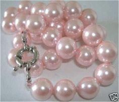 Beautiful-10mm-Pink-South-Sea-Shell-Pearl-Necklace-18-HL127