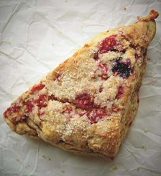 Mixed Berry Scones.  Delicious!  I used frozen berries and one percent milk and they turned out great!  12/15/13