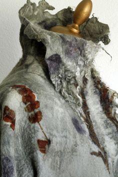 Brita Stein  felted jacket eco dyed  http://brita-stein.blogspot.ch/