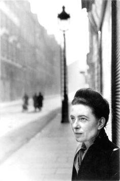 Simone de Beauvoir by Henri Cartier Bresson