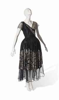 JEANNE LANVIN ROBE DE STYLE WITH SEQUINNED SKIRTS  CIRCA 1923-4