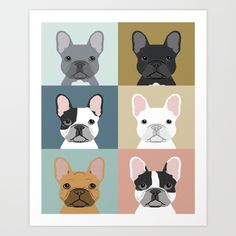 French Bulldog, portraits, pattern, dog person...