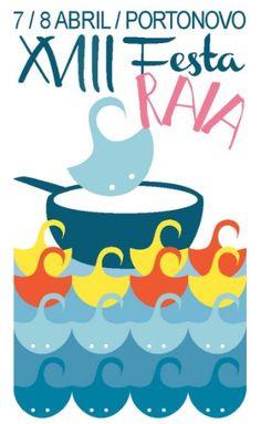Cartel deste ano da festa da Raia de Portonovo. Moi orixinal.