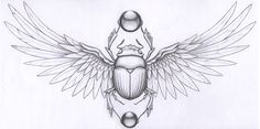 scarab beetle tattoos | Scarab Graphite Paper Tattoo Commission