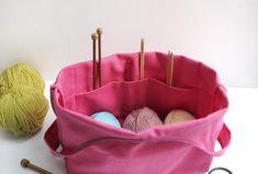 Knitter's Bag Canvas knitting bag Crochet Organizer Yarn Holder On the go knitting bag Crochet Project Bag Yarn organizer Project Bag Crochet Organizer, Yarn Organization, Knitted Bags, Simple Designs, Crochet Projects, Knit Crochet, Embroidery, Canvas, Knitting