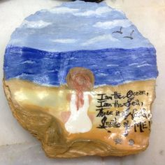 Diy oyster shell painted