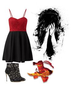 """""""Im laughing so hard"""" by ninja-potter-bright ❤ liked on Polyvore featuring Dolce&Gabbana and Cameo Rose"""