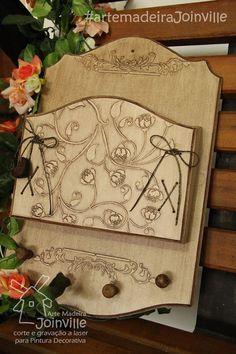 Porta-cartas - HomeDecor - Recortes AMJ  Visite nossa loja virtual: www.artemadeirajoinville.com.br