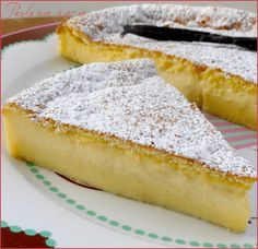 Magic cake with vanilla
